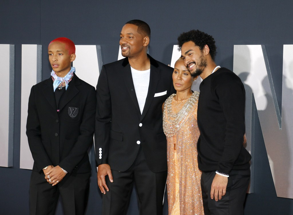 Jaden Smith, Will Smith, Jada Pinkett Smith and Trey Smith at the Los Angeles premiere of 'Gemini Man' held at the TCL Chinese Theatre in Hollywood, USA on October 6, 2019.