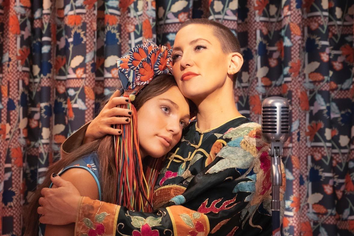 Music key art featuring Kate Hudson and Maddie Ziegler