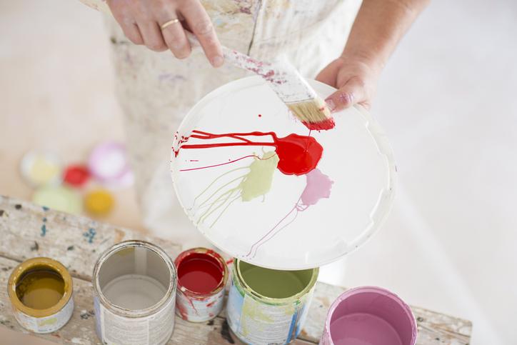 Painter working in refurbishment