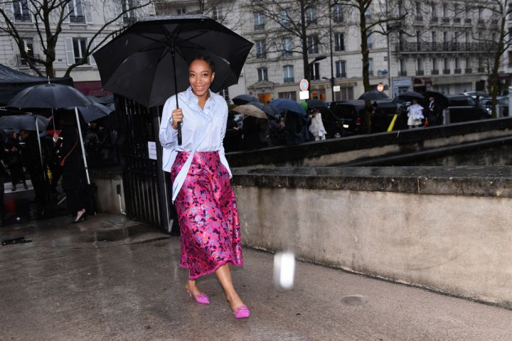 Valentino : Outside Arrivals - Paris Fashion Week Womenswear Fall/Winter 2020/2021