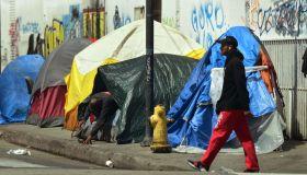 US-CALIFORNIA-HOMELESSNESS-SKID ROW