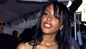 Singer Aaliyah arrives at The Theater at Madison Square Gard