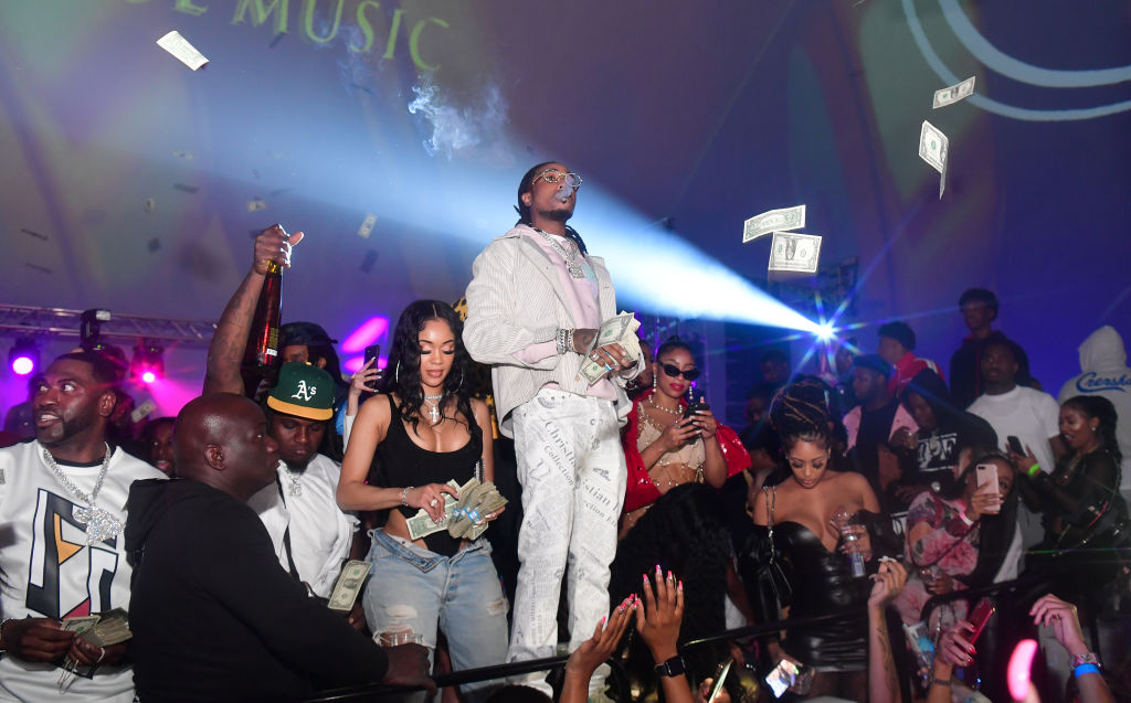 Couple Saweetie and Quavo seen partying together in Miami.