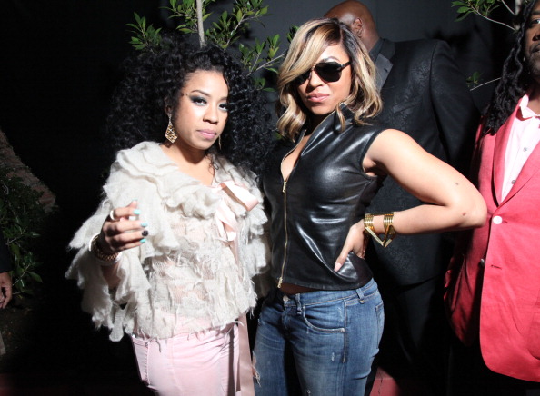 Keyshia Cole and Ashanti together at rapper Meek Mill's GRAMMY After Party