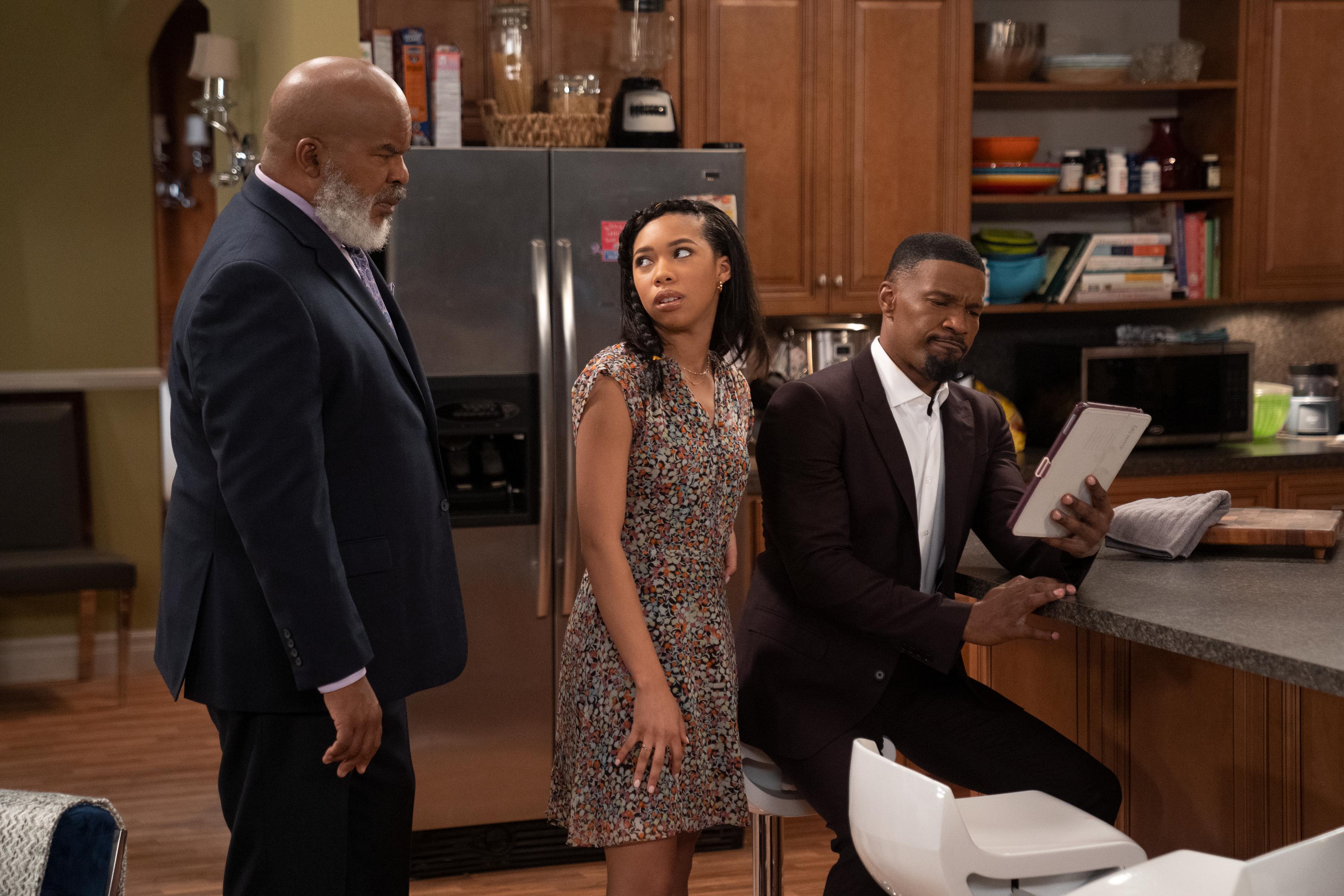Jamie Foxx, Kyla-Drew, and David Alan Grier star in Netflix's Dad Stop Embarrassing Me!