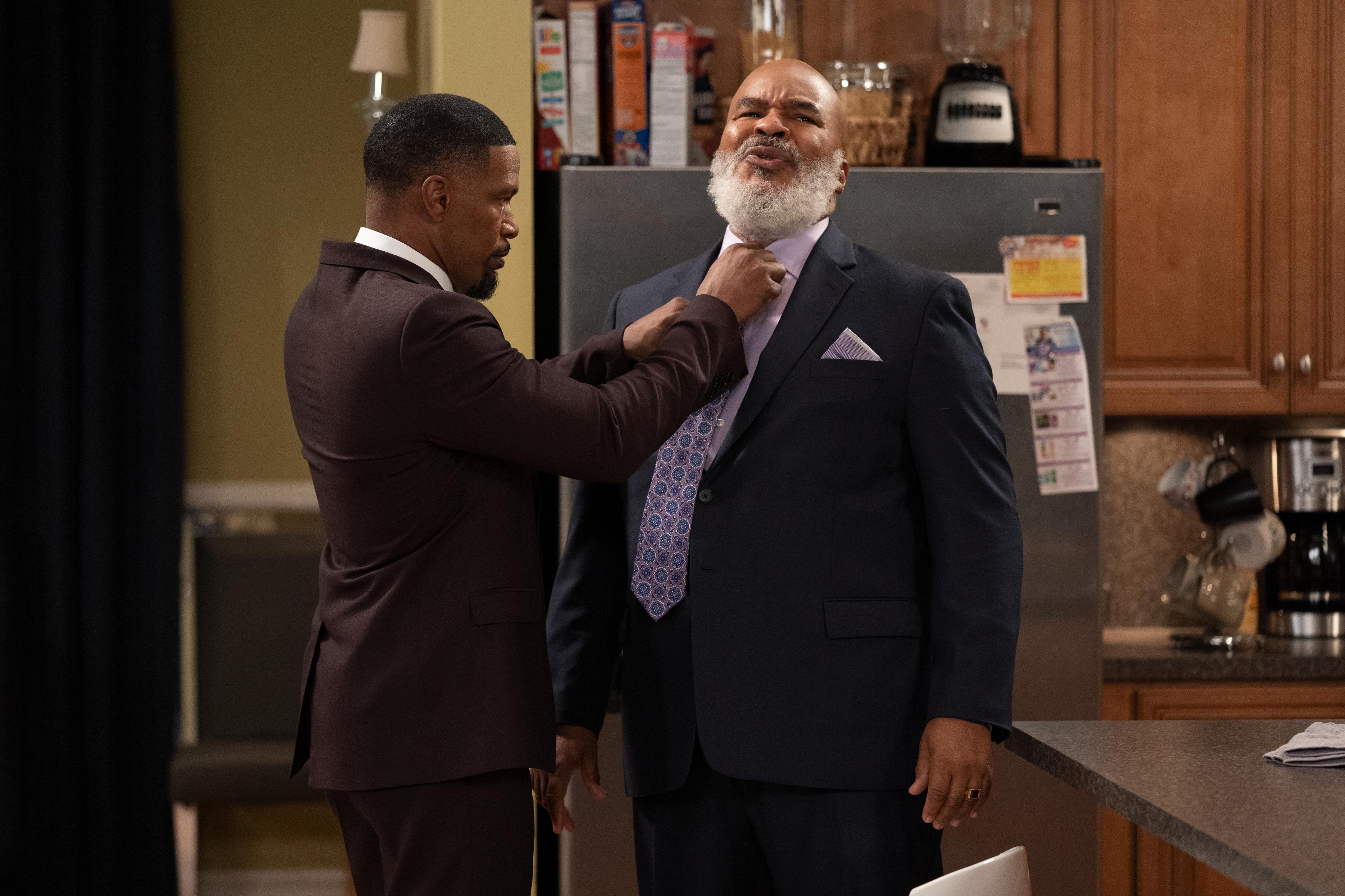Jamie Foxx and David Alan Grier star in Netflix's Dad Stop Embarrassing Me!