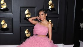 Musical talent pose on the red carpet at the 63rd Annual Grammy Awards show in downtown Los Angeles