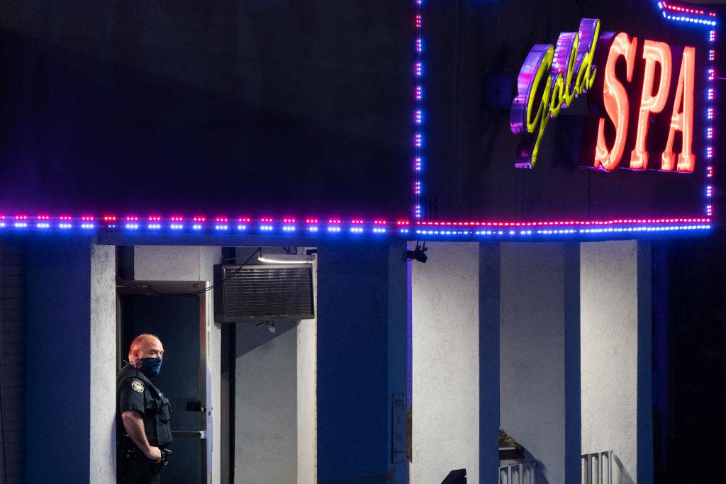 Massage parlor shooting in Atlanta, GA area.
