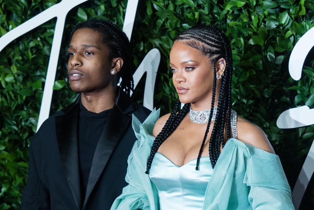 Rihanna and ASAP Rocky arrive to the 2019 Fashion Awards