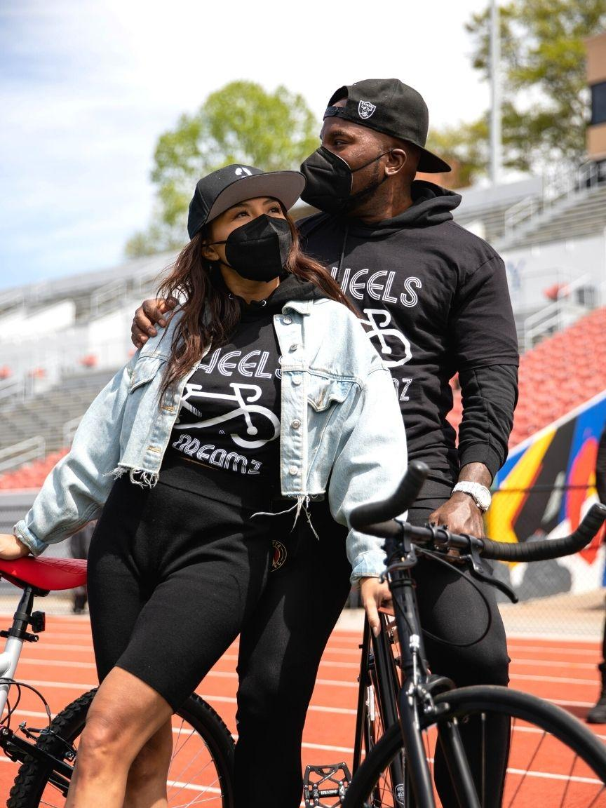 Jeezy & Jeannie Mai Gift ATL youth bicycles