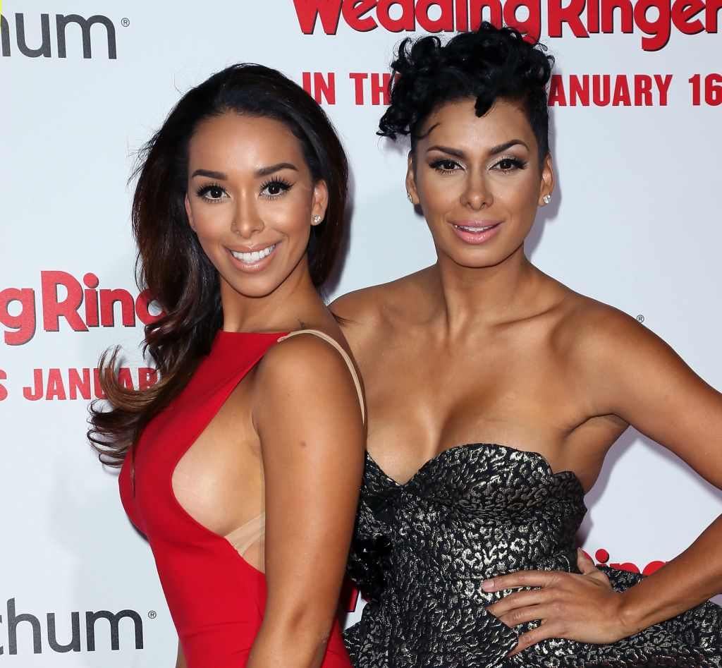 TV personalities Gloria Govan (L) and Laura Govan attend the premiere of Screen Gems' 'The Wedding Ringer' at the TCL Chinese Theatre on January 6, 2015 in Hollywood, California.