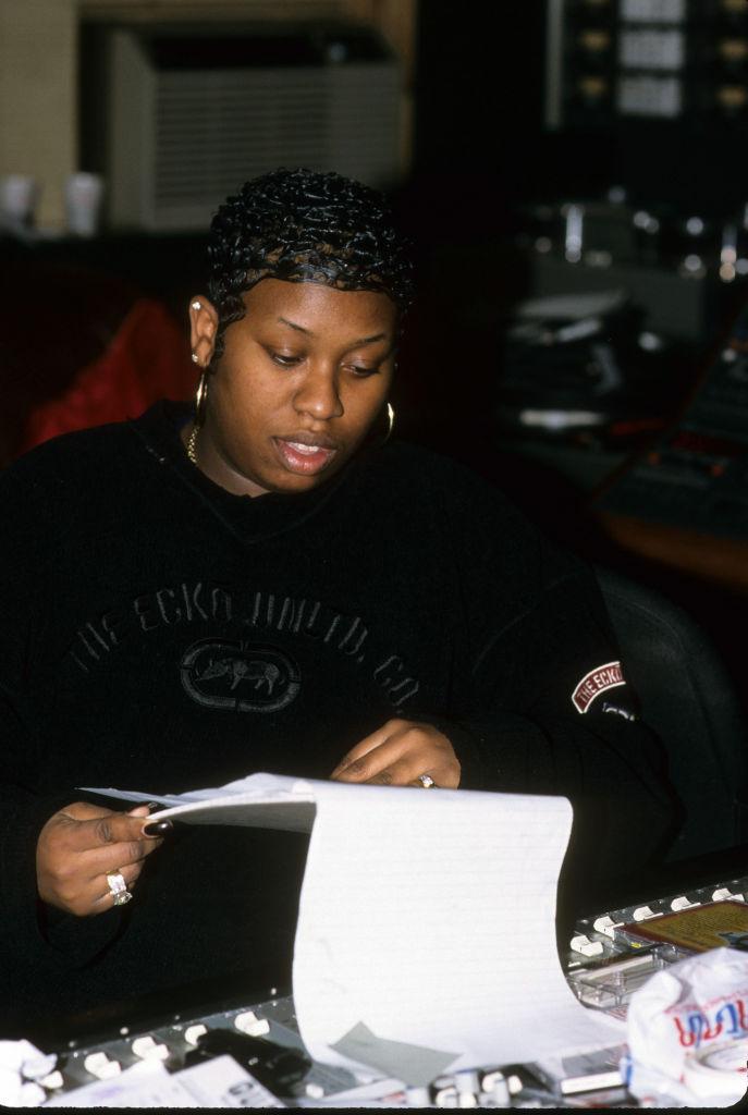 "Missy ""Misdemeanor"" Elliott at Quad Studios, 1998, New York City"