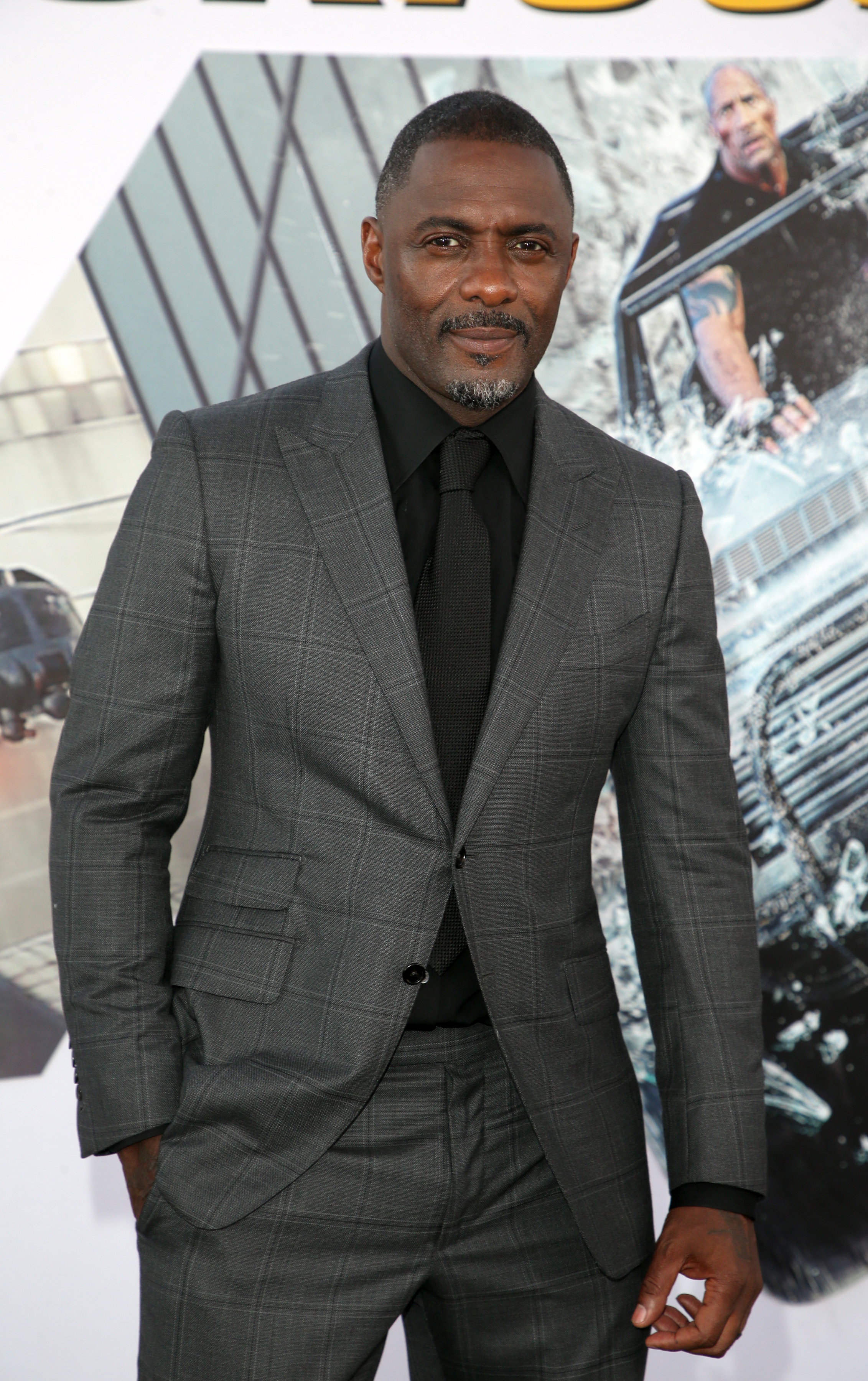 """Idris Elba at the premiere of """"Fast & Furious Presents: Hobbs & Shaw"""""""