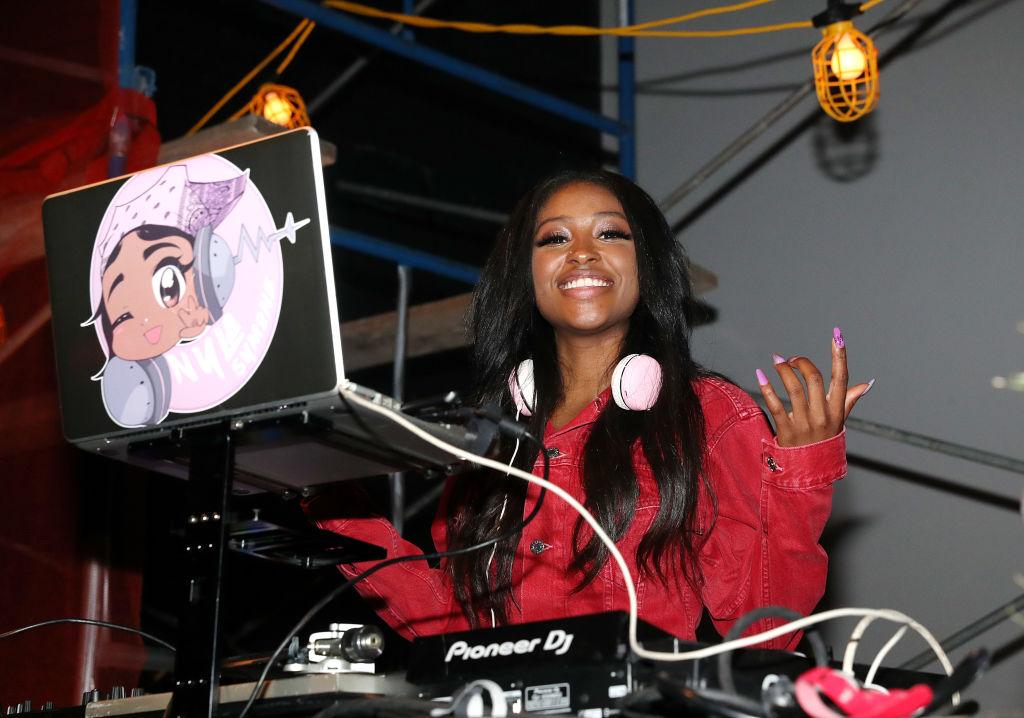 DJ Nyla Symone at Def Jam 35 Night Market