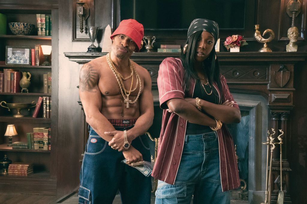 Dear White People Vol. 4 episodic still featuring Brandon Bell and Ashley Blaine Featherson