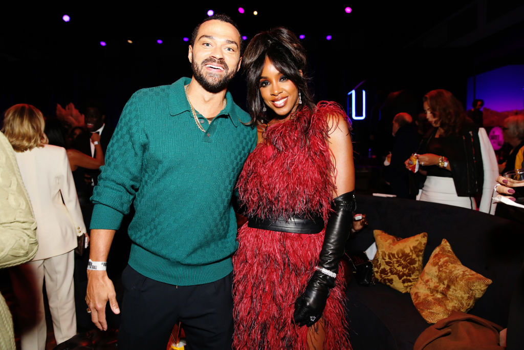 Kelly Rowland and Jesse Williams spotted at the L.A. premiere for 'The Harder They Fall.'