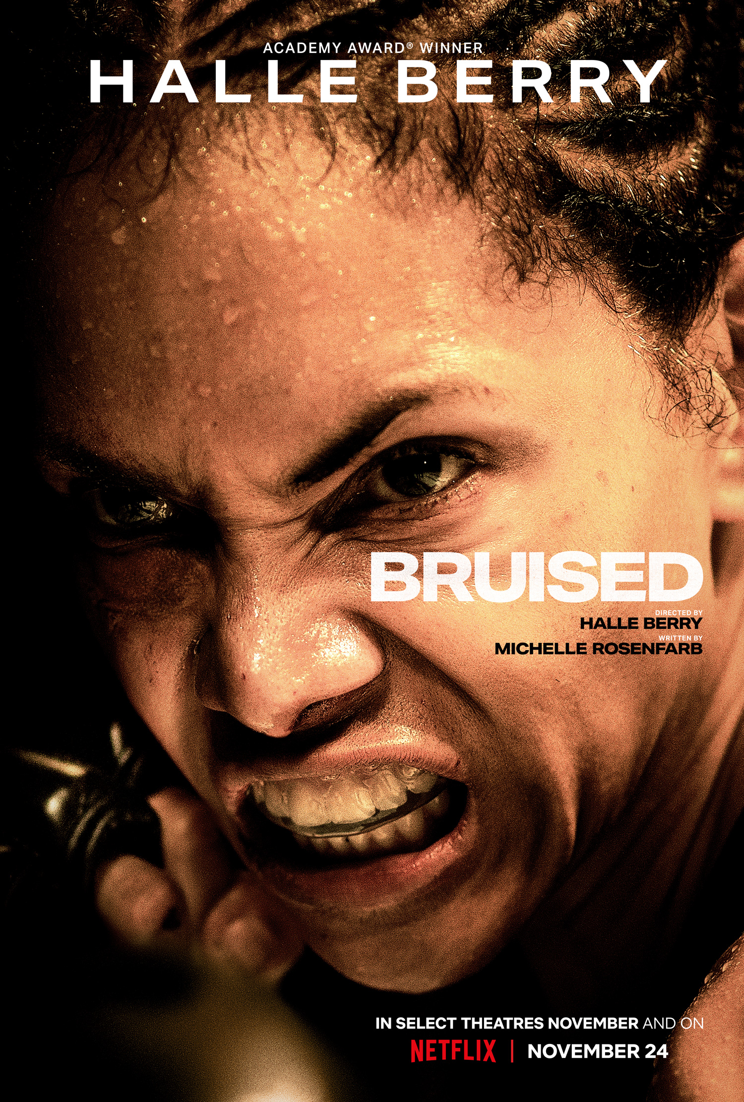 Halle Berry 'Bruised' key artwork and premiere dates