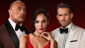 Red Notice starring Dwayne Johnson, Gal Gadot, and Ryan Reynolds